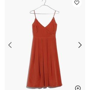 NWT Madewell Silk Fern Cami Dress in Spiced Orange